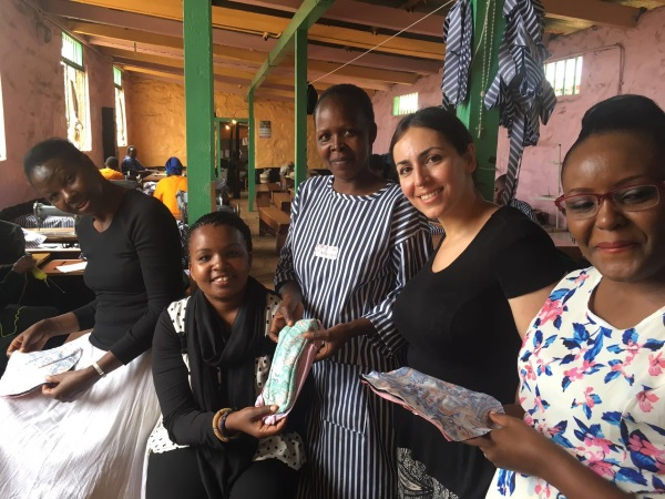 At Langata Women's Prison workshop.